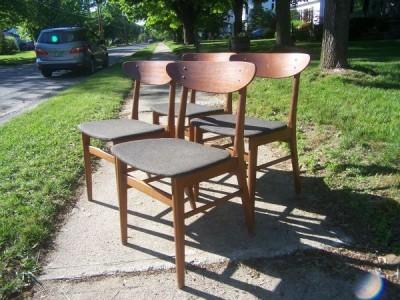 Vintage Danish Modern Dining Chairs Modern Love